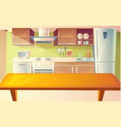 Cartoon of kitchen interior vector