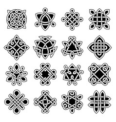 celtic trinity ancient geometrical symbols celtic vector image