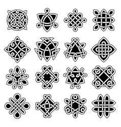 Celtic trinity ancient geometrical symbols vector