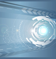 Circular abstract spaceship vector image