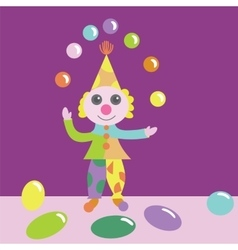 Clown juggling with balls vector