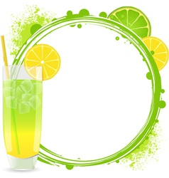 Cocktails Background Frame vector