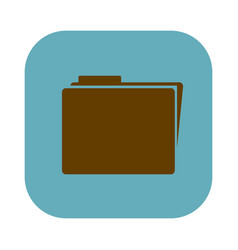 Color square with folder icon vector
