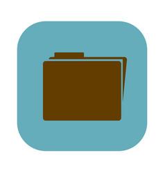 Color square with folder icon vector
