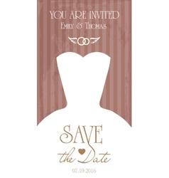 Congratulations card Template for wedding vector