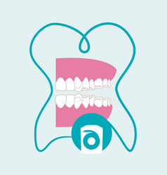 Dental care design health concept medical care vector