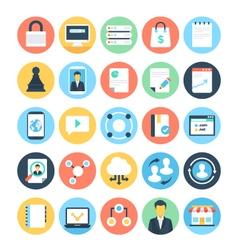 Digital Marketing Icons 6 vector image