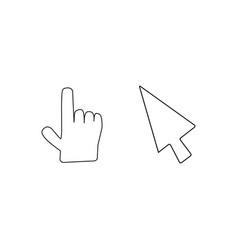 doodle mouse cursor icons vector image