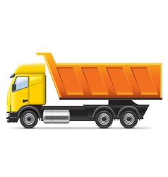 Dump truck isolated on white vector image
