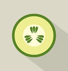Flat Design Cucumber Icon vector