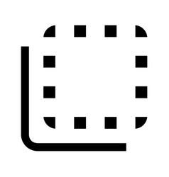 Flip to back button glyph icon vector
