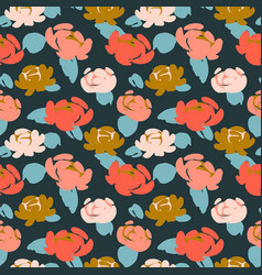 Floral seamless pattern with roses design vector
