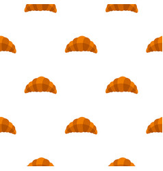 fresh and tasty croissant pattern seamless vector image