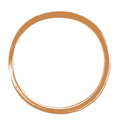 golden enso zen circle brush vector image