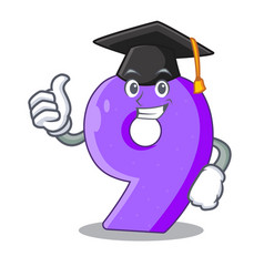 graduation number nine athletics the shaped vector image
