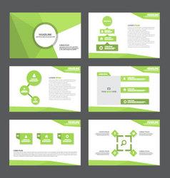 Green polygon presentation templates Infographic vector