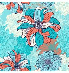 hand-drawn flowers dahlia vector image