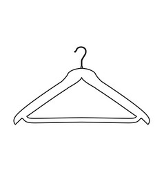 Hanger black color path icon vector
