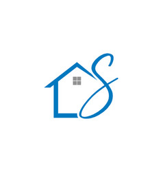 home initial letter s logo design vector image