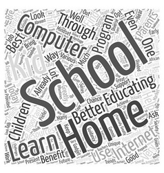 Home Schooling and Computer Learning Word Cloud vector