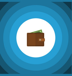 Isolated wallet flat icon billfold element vector