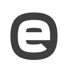 letter e flat web icon or sign isolated on white vector image