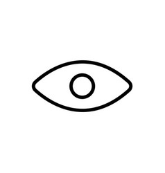 line eye icon on white background vector image