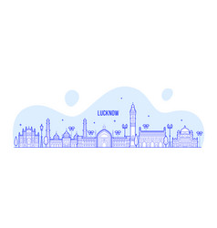 lucknow skyline uttar pradesh india city vector image