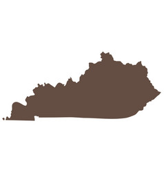 map of the us state of kentucky vector image