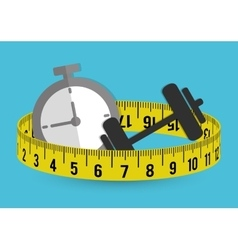 Measure tape and dieting vector image