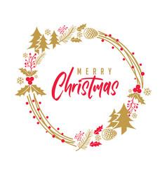 merry christmas elegant rustic vector image