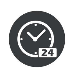 Monochrome round 24 hours icon vector