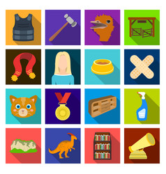 nature history sport and other web icon in flat vector image