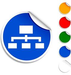 Network icon vector
