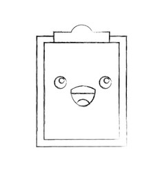 Paper clipboard kawaii character vector