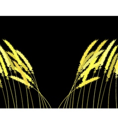 parting grass vector image