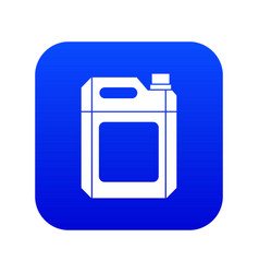 Plastic jerry can icon digital blue vector