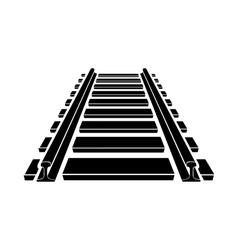 Railway icon simple style vector