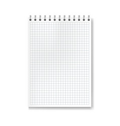 Realistic math ruled notebook vector