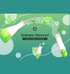 Science frame design with erlenmeyer flask test vector