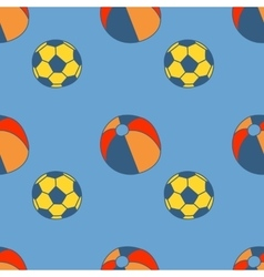 Seamless pattern with hand drawn balls vector image