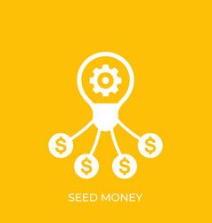 Seed money funding icon vector