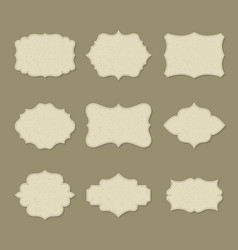 set isolated retro blank labels or empty logo vector image