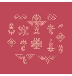Set of Vintage Graphic Elements for Design vector image
