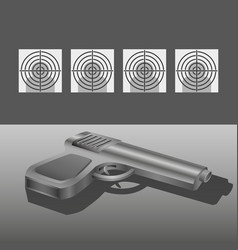 Shooting range with gun concept vector