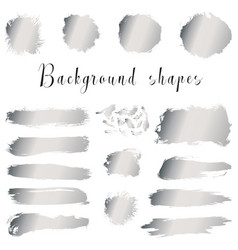 silver ink borders brush strokes stains banners vector image