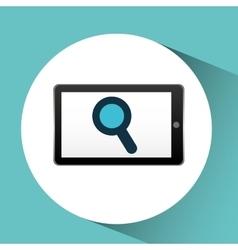 smartphone black search graphic vector image