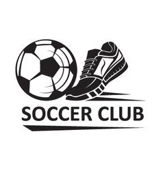 Soccer football logo vector