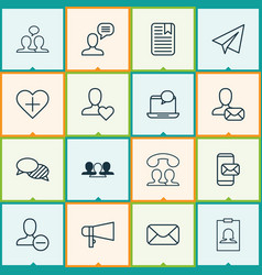 social icons set with identity card team best vector image