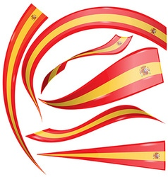 Spain flag set vector